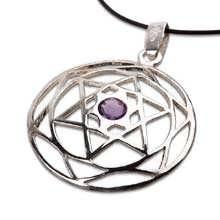 Estrella de David Mandala de plata