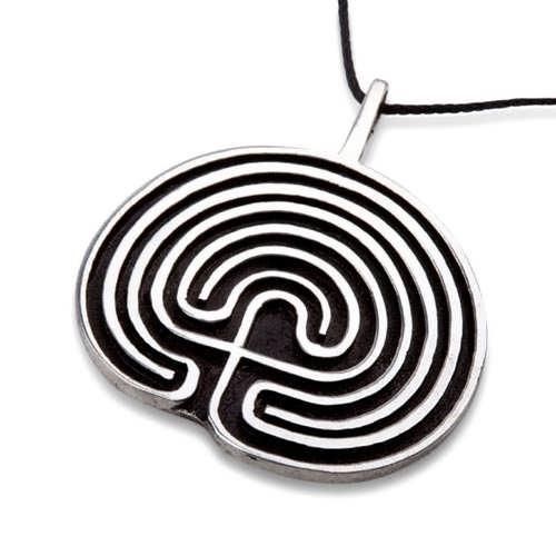 Labyrinthe pendentif argent