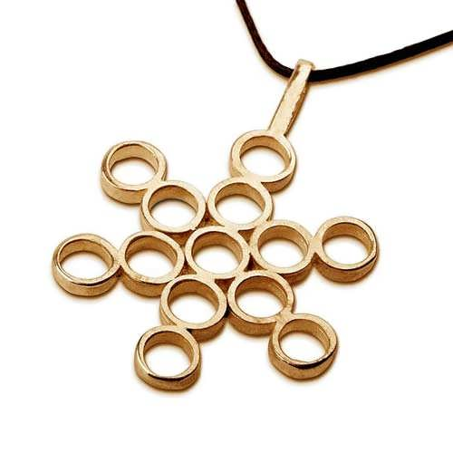Fruit of Life Pendant Gold