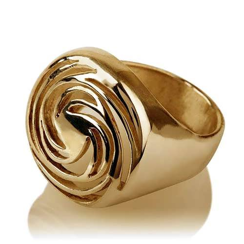 Golden Spiral Gold Ring
