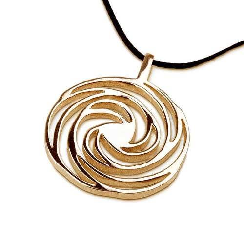 Espiral dorada de  oro chico