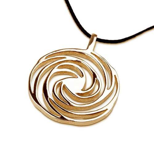 Spirale dorata, oro, piccola