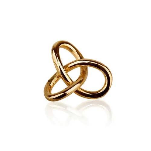 Кулон «Гордиев узел», золото, маленький
