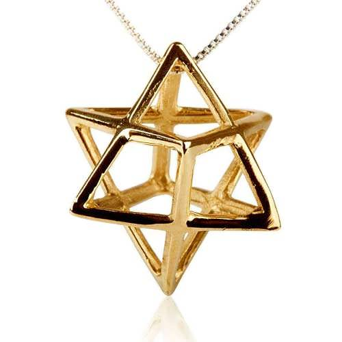 Merkaba Pendant Gold Big A Powerful Symbol of Healing and Protection