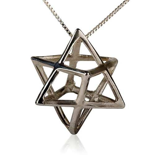 Merkaba Pendant Silver Big A Powerful Symbol of Healing and Protection