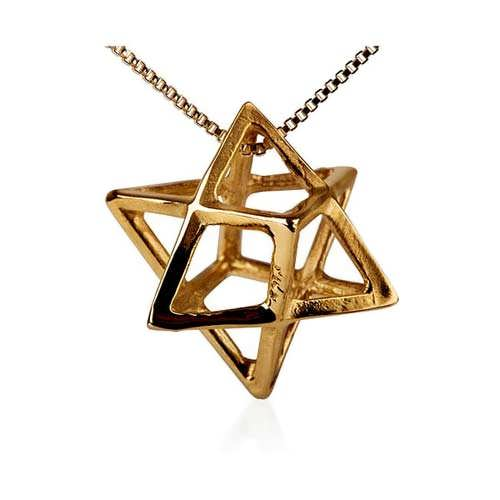 Merkaba Anhänger Medium Gold