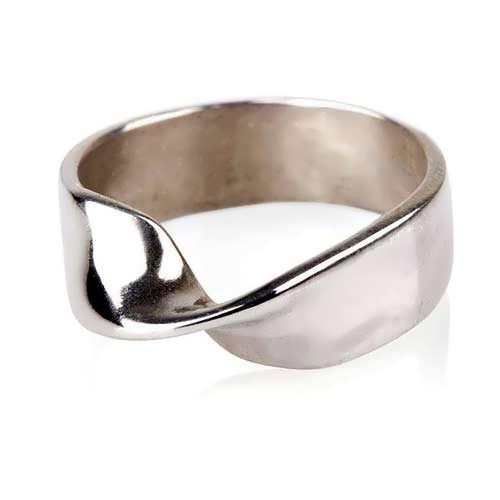Кольцо «Лента Мёбиуса», серебро