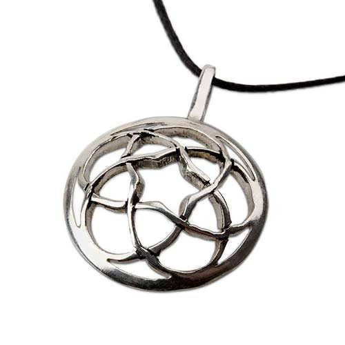 Pentagramic Torus Knot Silver
