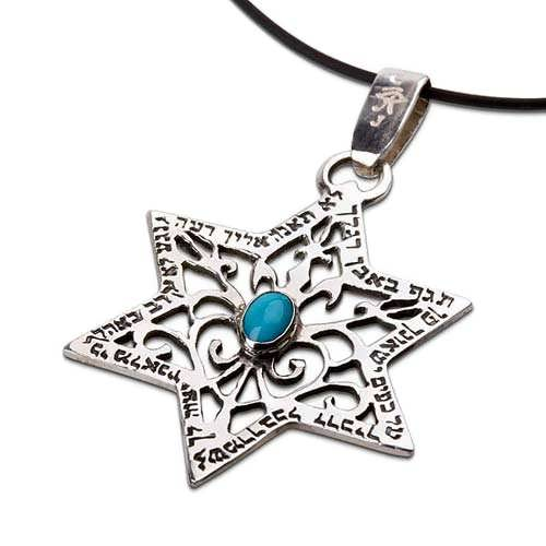 Star of David pendant for protection