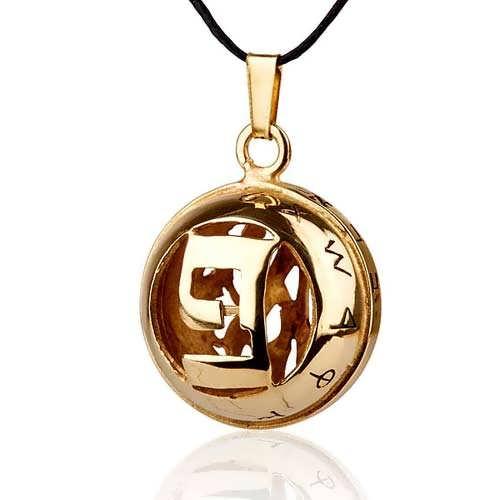 Gold God's word pendant