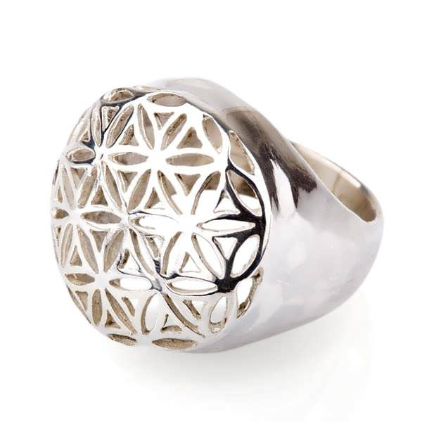Flower Of Life Ring Silver
