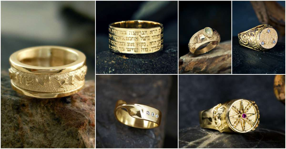 Gold Rings that fit men