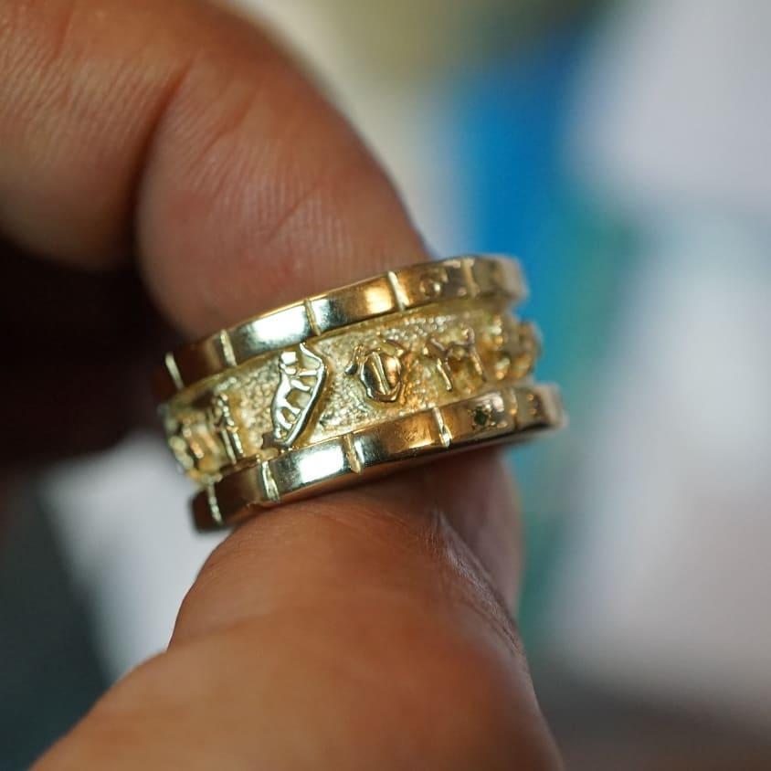18K Personalized Cosmic Sigil Ring
